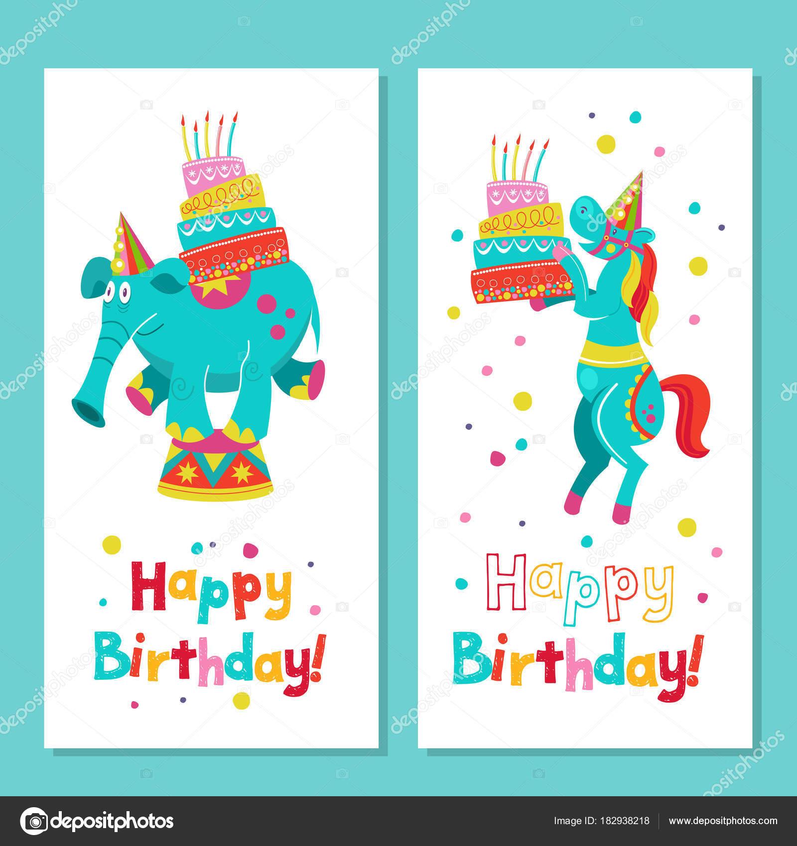 Herzlichen Gluckwunsch Zum Geburtstag Vektor Grusskarte