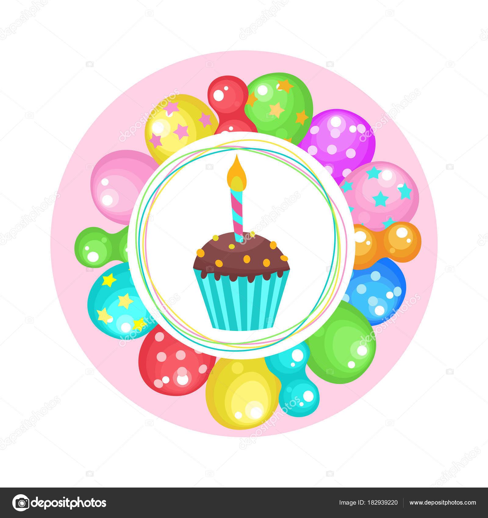 Ballons Et Gâteaux Joyeux Anniversaire Vector Clipart