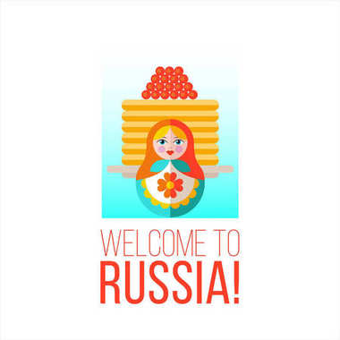 Welcome to Russia. Vector illustration.