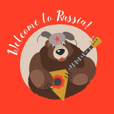 Travelling to Russia.  Welcome to Russia. Vector illustration.