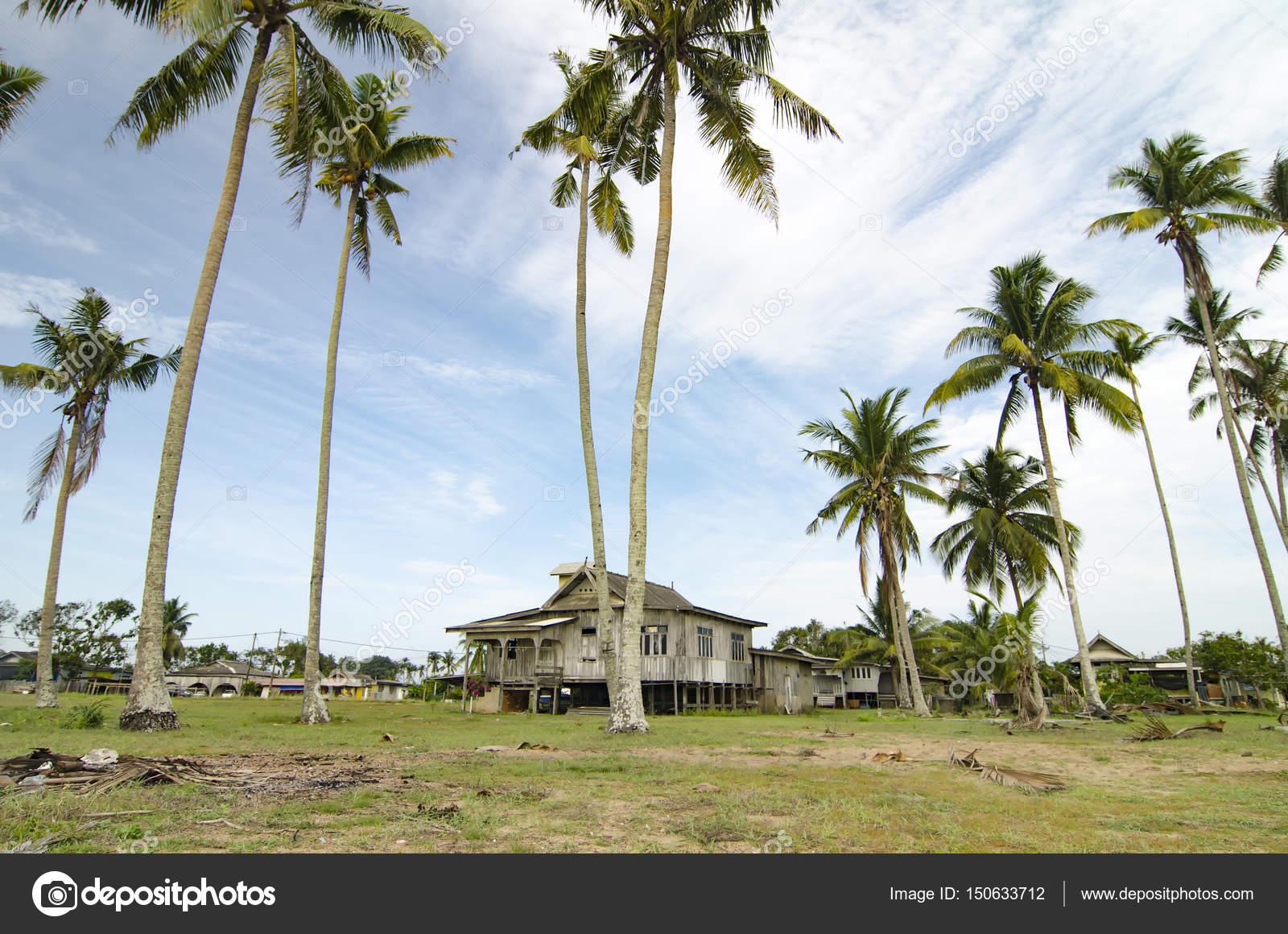 Beautiful Village Scenery Located In Terengganu Malaysia Stock