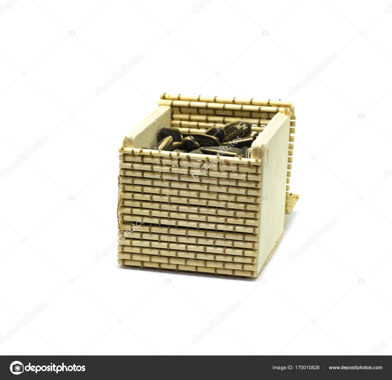 Picture of: Small Hand Made Bamboo Basket For Door Gift Stock Photo C Xicro 170010828