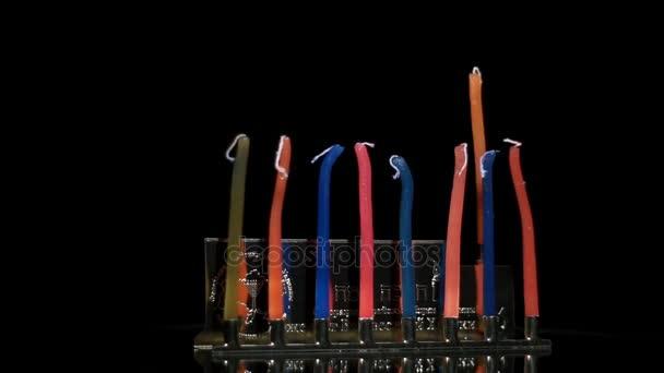 Egy ünnepi Hanuka, felkészülve a nyaralás gyertyák