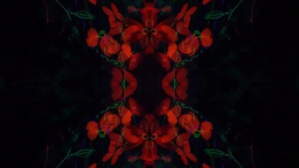 Kaleidoskop dívky v osvětlený bodyart