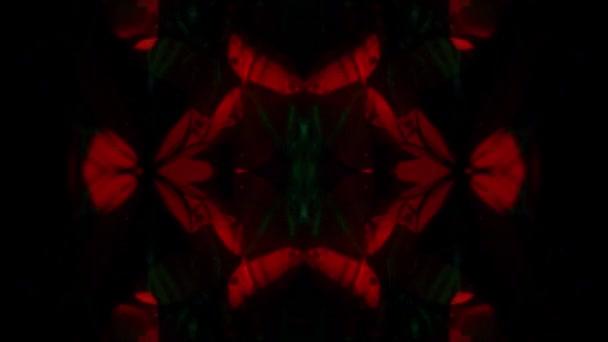 Hypnotické kaleidoskop oranžové a zelené