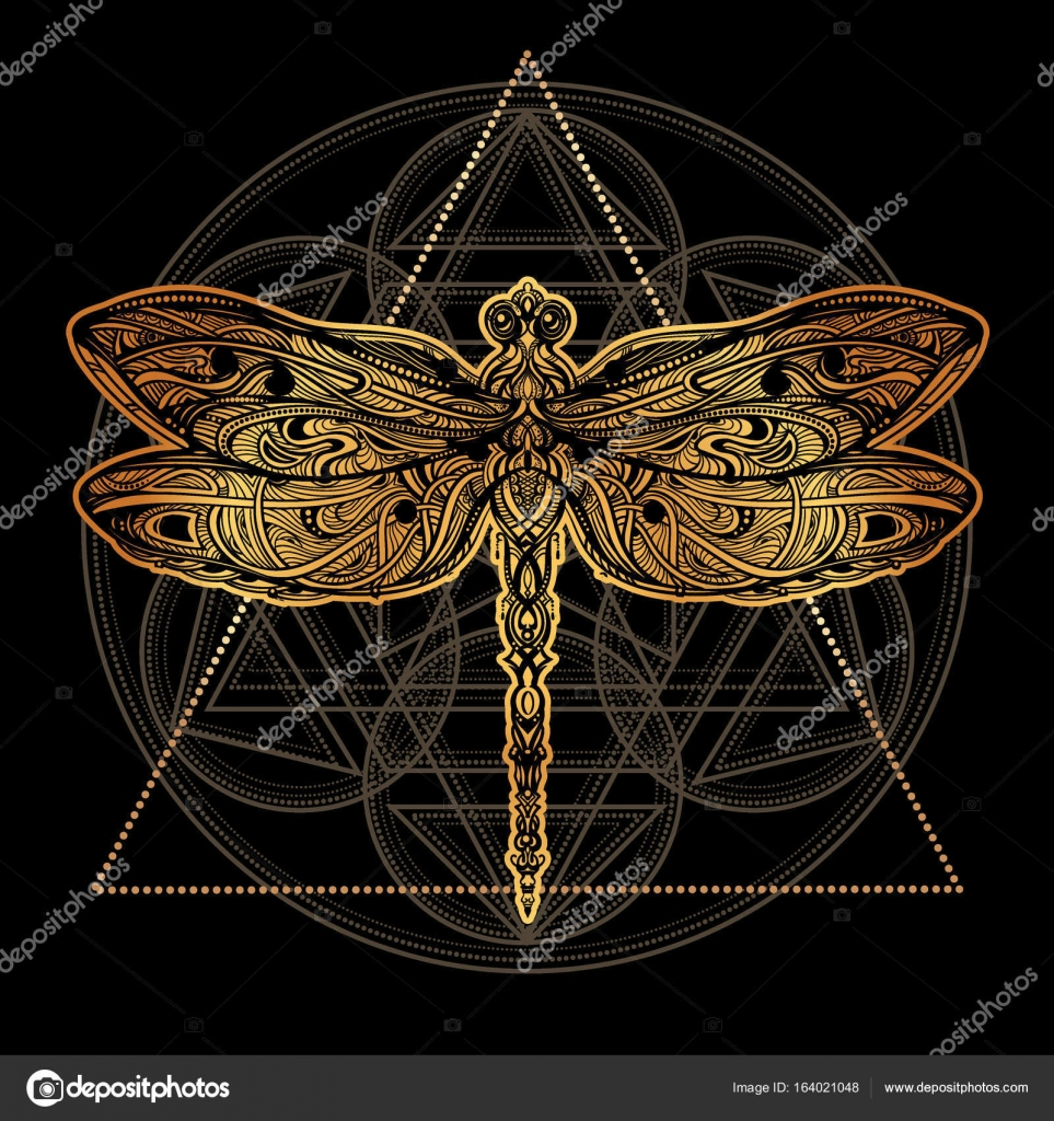 Dragonfly vector tattoo stock vector yulianas 164021048 exquisite ornate stylized dragonfly spiritual esoteric totem symbol of africa india america ethnic tribal patterns with elements of ar nouveau and biocorpaavc