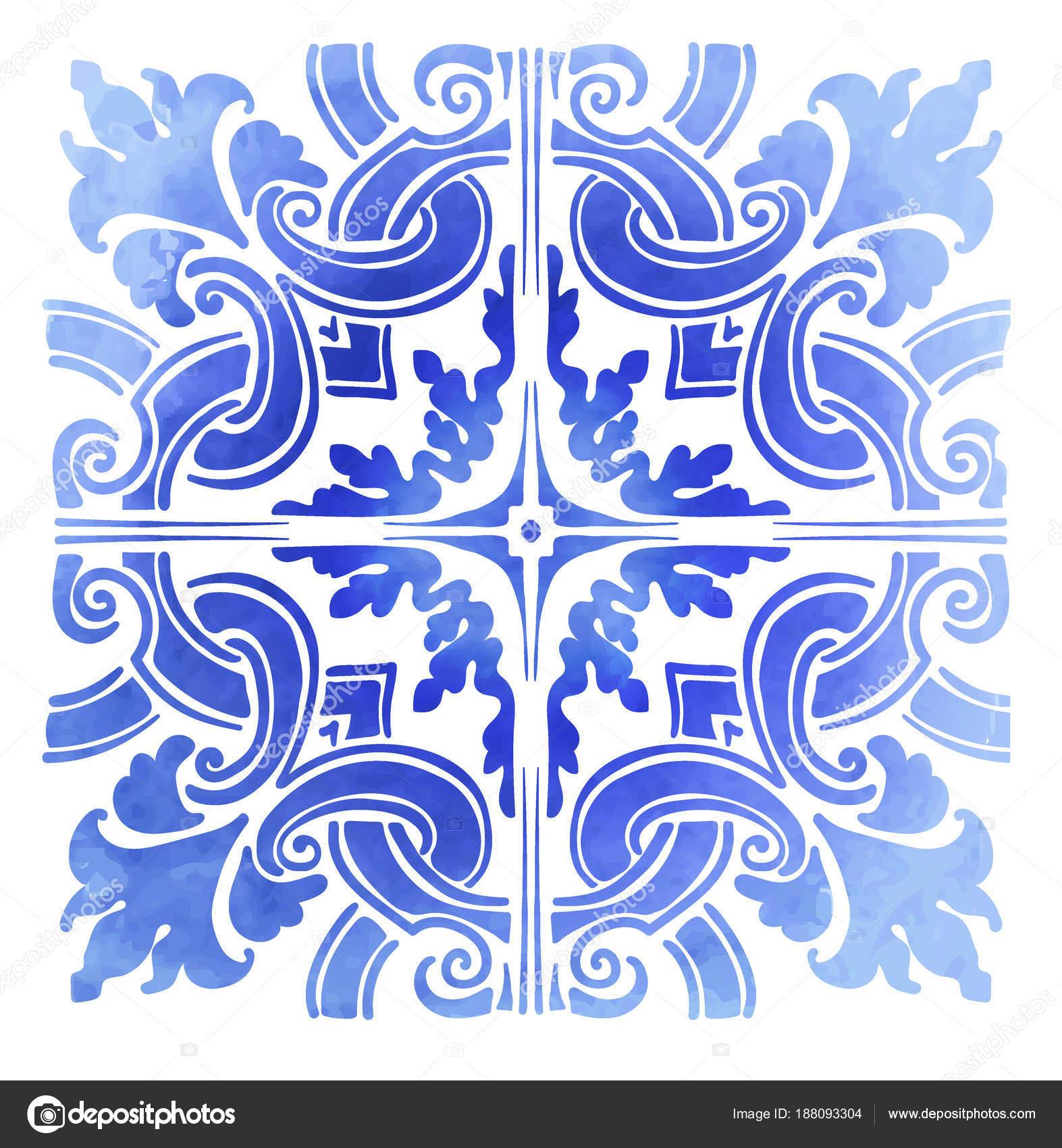 Azulejos portugueses aquarela vetores de stock yulianas 188093304 - Azulejos portugueses comprar ...