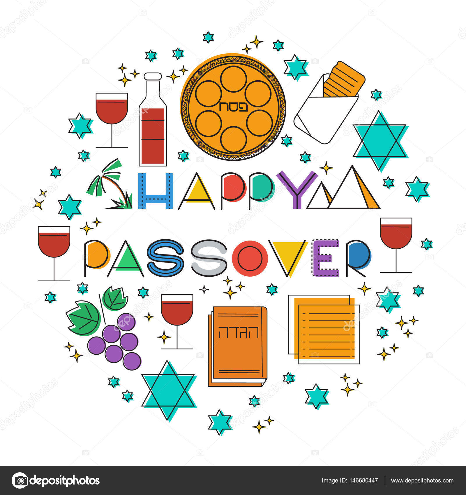 Happy passover greeting card stock vector elinorka 146680447 happy passover greeting card stock vector m4hsunfo