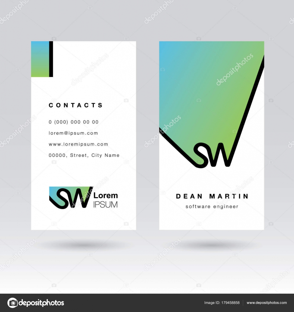 Two Side Business Card Manager Engineer Company — Stock Vector ...