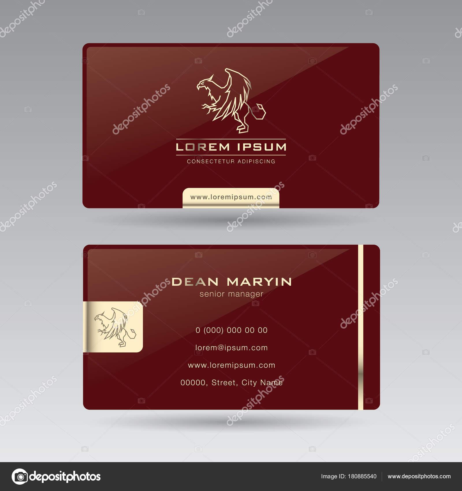Zweiseitige Luxus Horizontale Visitenkarte Griffin02 Diese