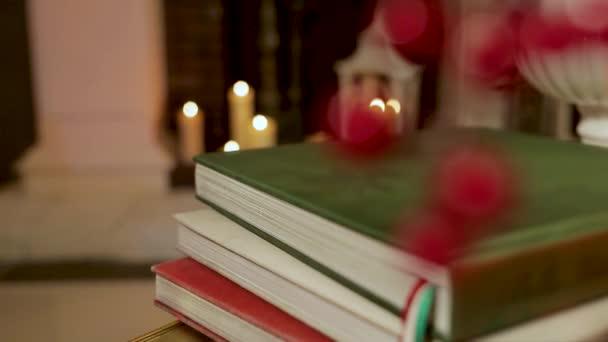 Vánoční Zátiší s míčky a svíčky