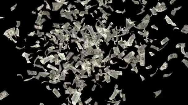 Geld fallende Dollars Finanzgewinn US USA Amerikanische Währungssteuer lässt es regnen 4k