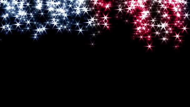 Magic sparkles fairy dust wand particle trail transition US USA stars stripes 4k