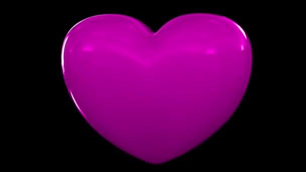 Srdce láska tlukot pulsu valentinka výročí svatby pár romantického datování smyčka 4 k
