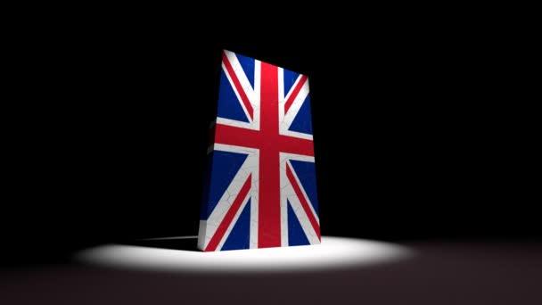 UK collapse flag Great Britain British England English 4k