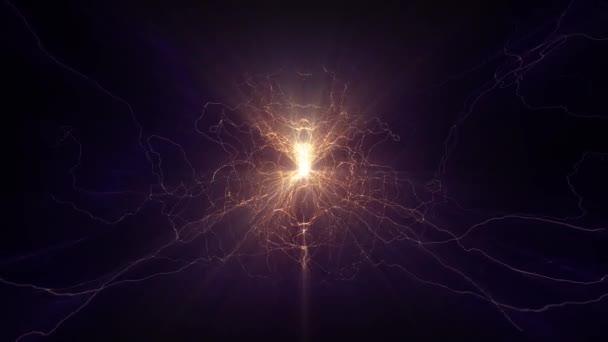 Lightning elektrických oblouků sci fi moc reaktor orb budoucí napětí tech záře 4k