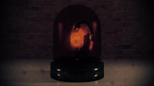 Construction ambulance police light flashing hazard siren cops car vintage 4k