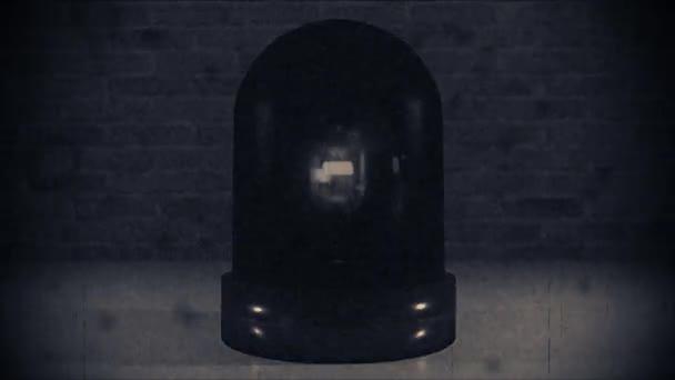 Police light flashing law enforcement hazard siren cops crime car vintage 4k