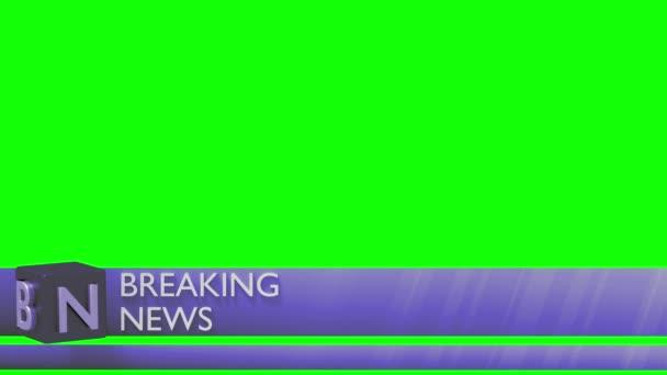 Breaking news nižší třetí 3rd chyron l3rd smyčka 4k