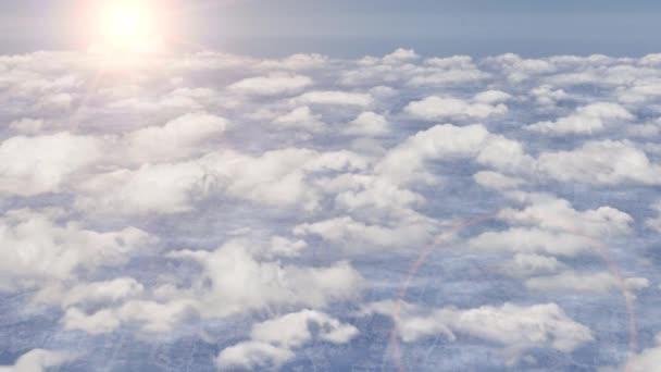Létání nad mraky letadlo letadlo sky stratosféry slunce odlesk objektivu 4k 4k