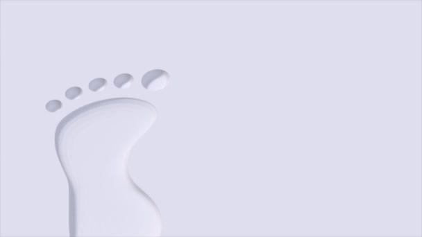 Száj nyomatok lábnyomok mezítláb mezítláb 4k