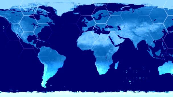 Svět Mapa high-tech digitální satelitní data zobrazit válečné místnosti 4k