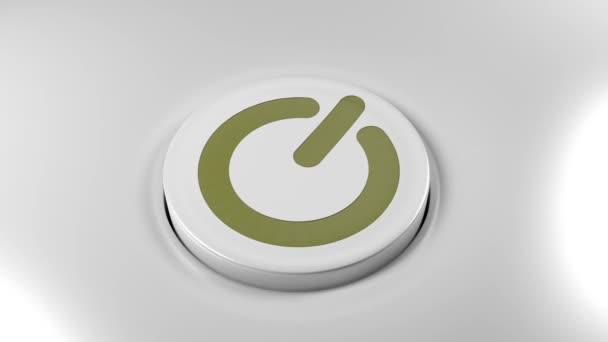 Tlačítko vypínače zapněte technologie počítače Tv miniaplikace smartphonu 4k