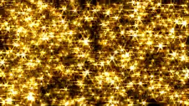 Csillogó háttér hurok lencse fényfolt szikrázó függöny 4k