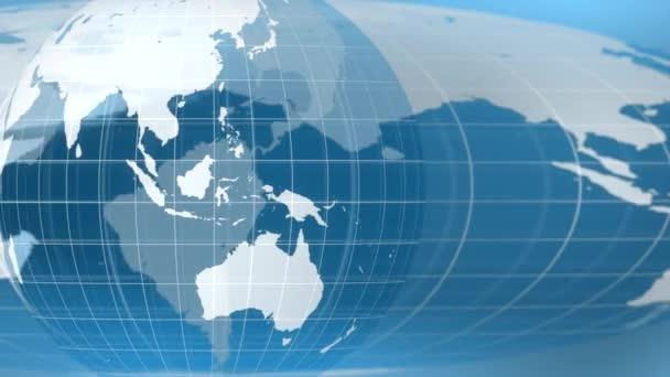 Svět globální zprávy pozadí pozadí planeta Země 4k
