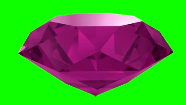 Růžový ruby diamond drahokam drahokam kámen točí svatební pozadí smyčka 4k