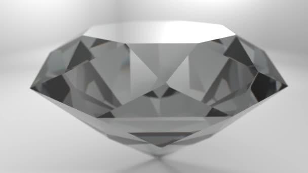 Diamant drahokam drahokam kámen točí svatební pozadí smyčka 4k
