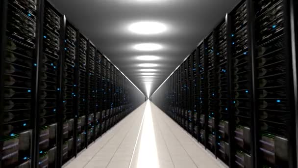Rechenzentrum Server endlosen Korridor Schleife Zentrum 4k