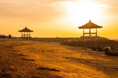 Beautiful morning at Karang beach, Sanur in Bali, Indonesia