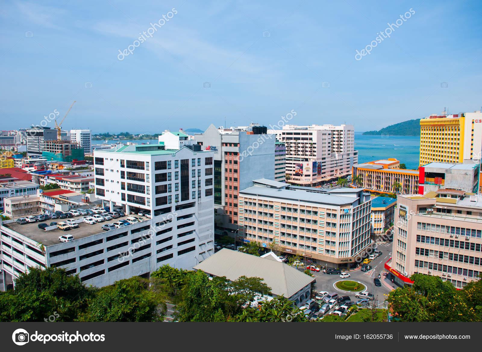 Die Aussicht Vom Dach Des Wolkenkratzers Kota Kinabalu Sabah