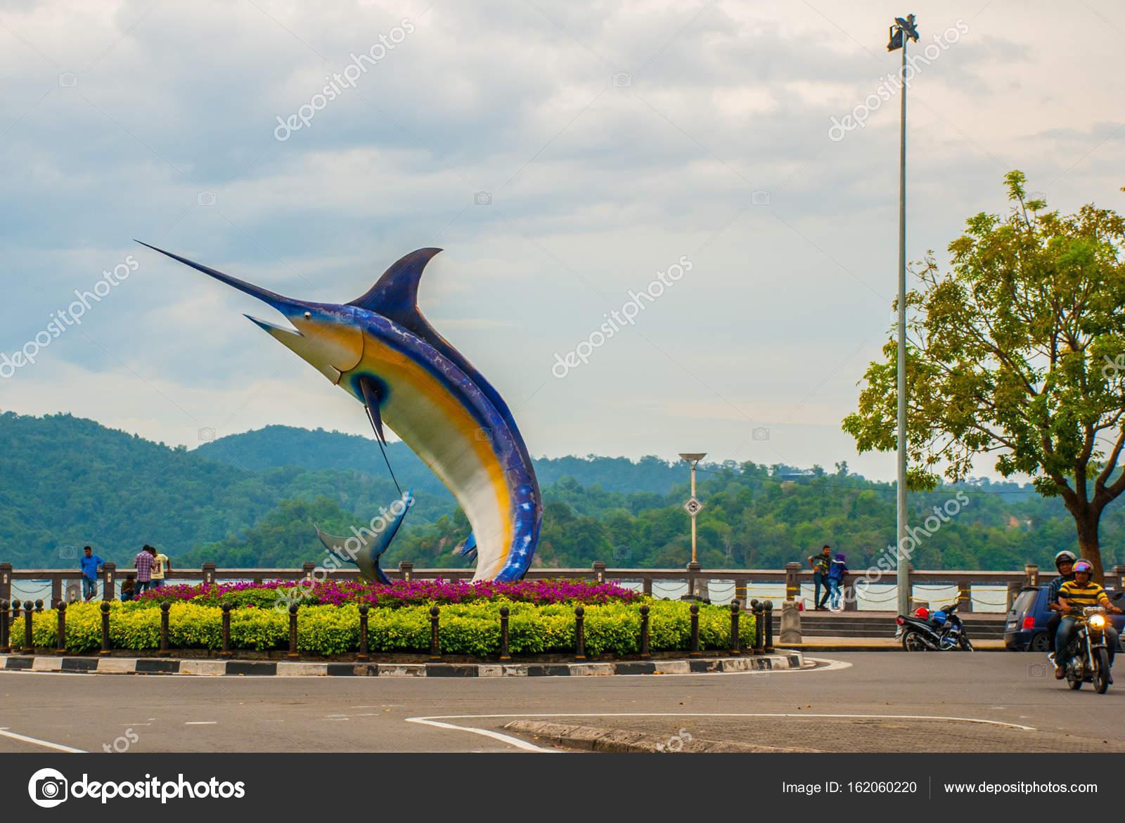 The Fish Sculpture On The Waterfront Kota Kinabalu Sabah Malaysia