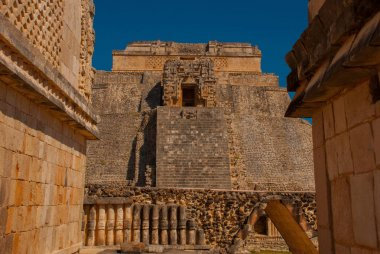Pyramid of Uxmal, an ancient Maya city of the classical period. One of the most important archaeological sites of Maya culture. Yucatan, Mexico