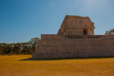 Ruins of Uxmal, an ancient Maya city of the classical period. One of the most important archaeological sites of Maya culture. Yucatan, Mexico