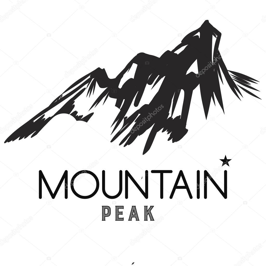 山のアイコン白黒山ロゴ ストックベクター Blog10yandexru 126345856