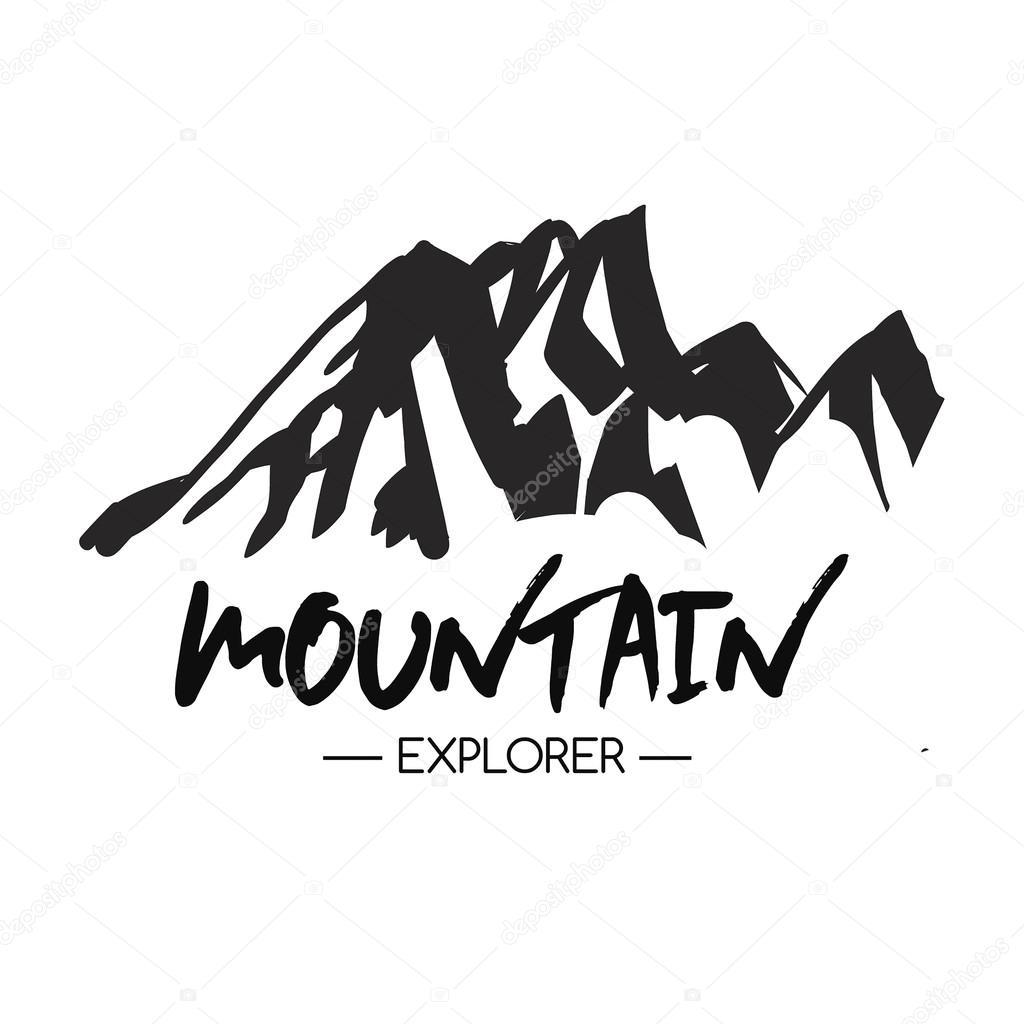 山のアイコン白黒山ロゴ ストックベクター Blog10yandexru 126345868