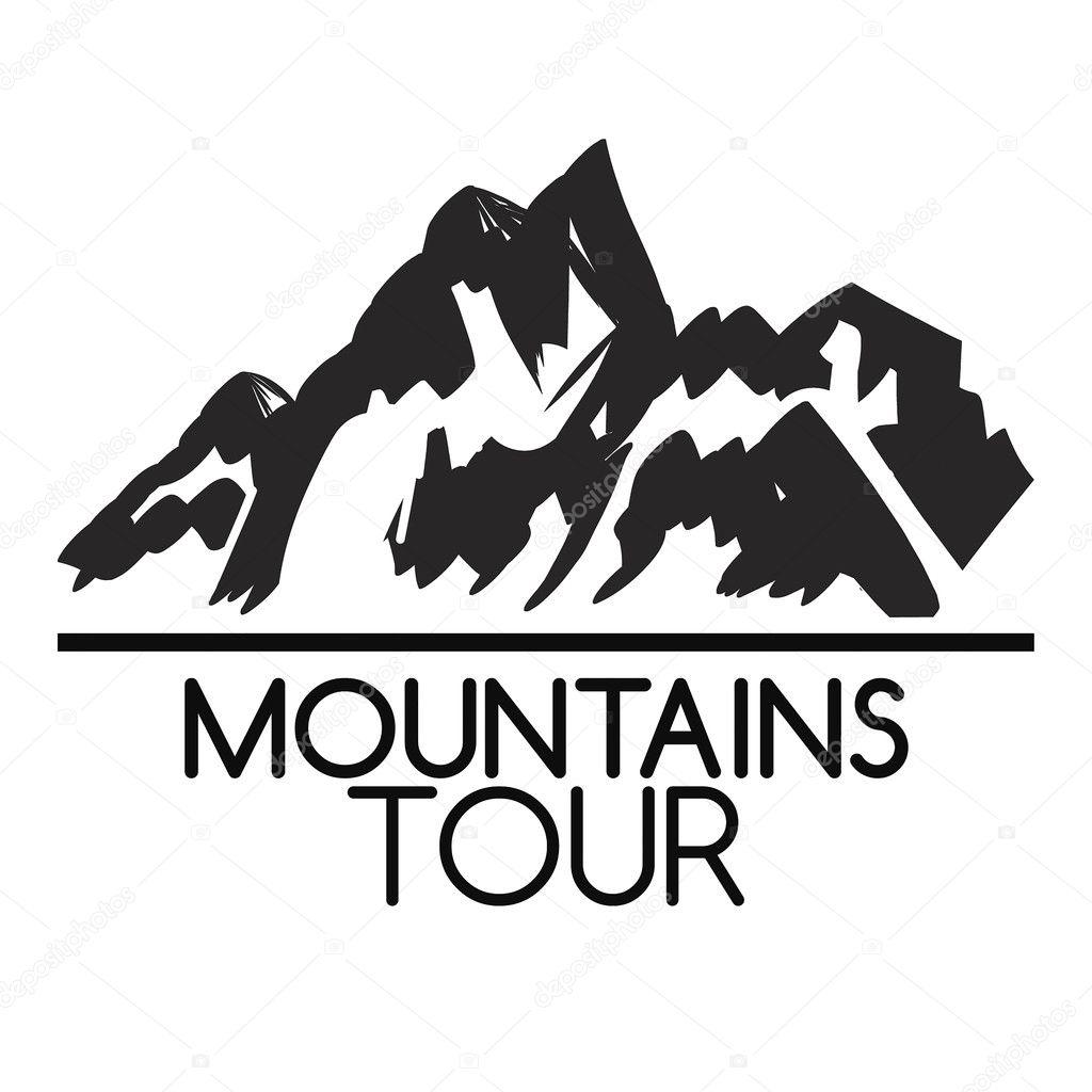 山のアイコン白黒山ロゴ ストックベクター Blog10yandex