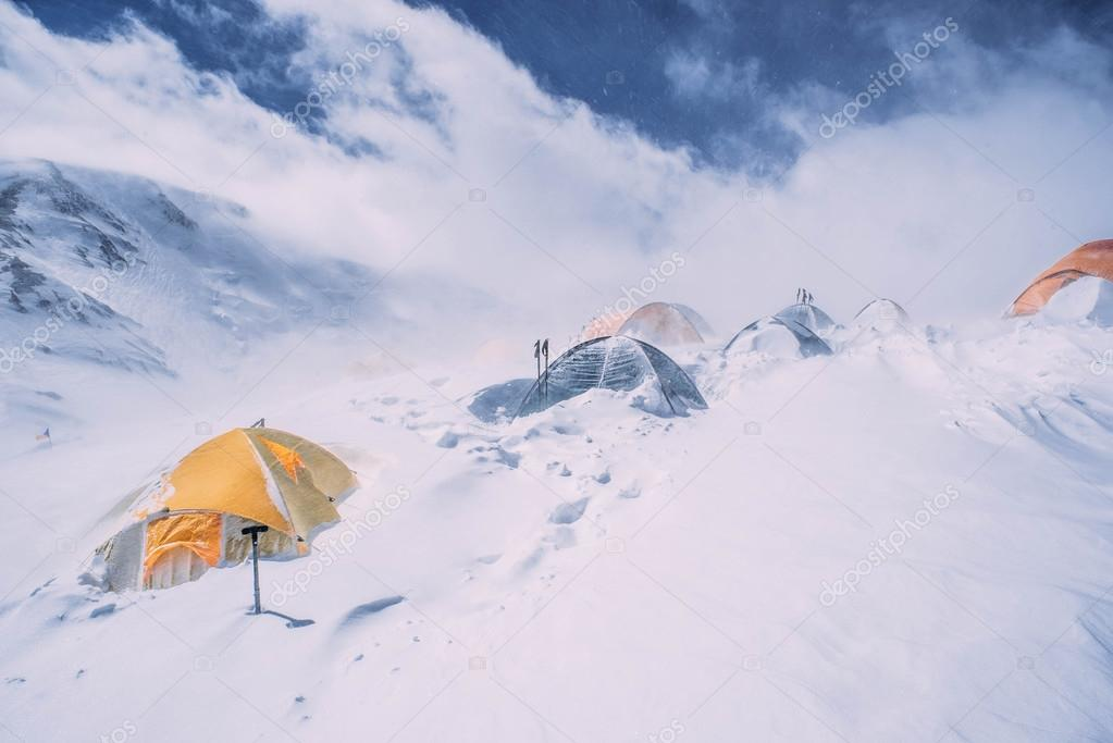 tents in high mountains