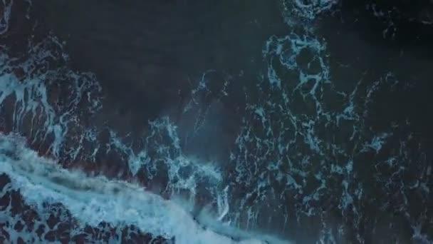 aerial top view of ocean waves