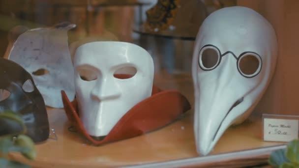 Velencei karnevál, a kirakat a hagyományos maszkok