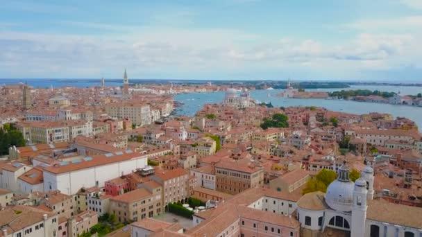 letecké záběry z centra města Benátky, Itálie