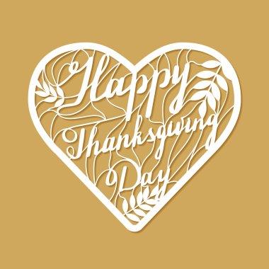 Thanksgiving laser cutting template