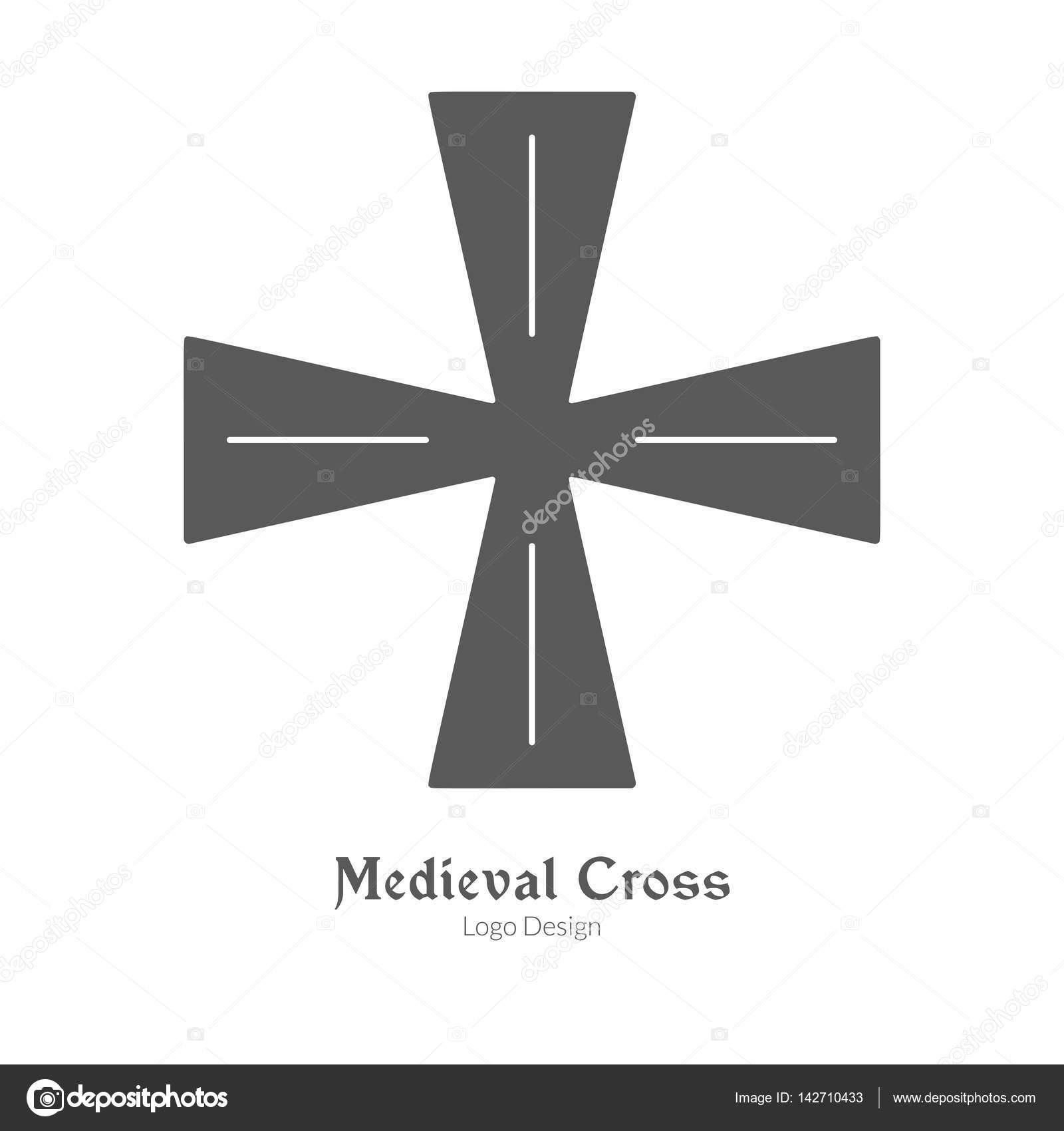 中世ロゴ エンブレム テンプレート 黒いシンプルなスタイル ストック