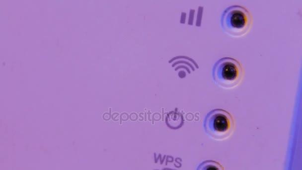 Close-up op de status van de verbinding van het signaal van de ...