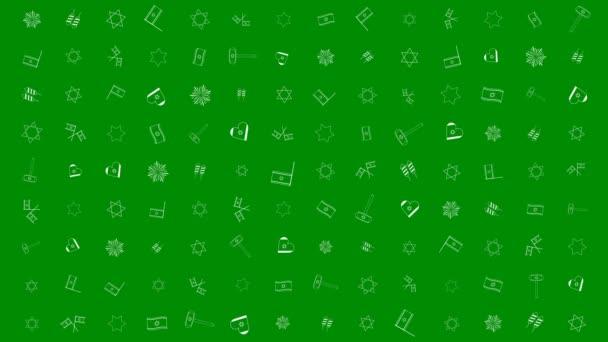 Izrael függetlenségi napja holiday flat design animáció háttér hagyományos ikon (operátor)