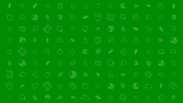 Sávuot holiday flat design animáció háttér hagyományos ikon (operátor). az alfa-csatornát hurok.