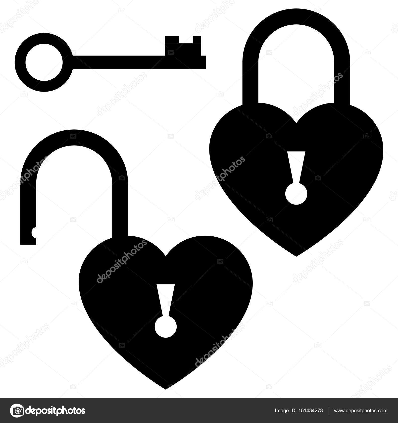 door lock and key black and white. Wonderful And Key To The Heart Door Lock Icon St Valentineu0027s Day Concept U2014 Stock With Lock And Black White